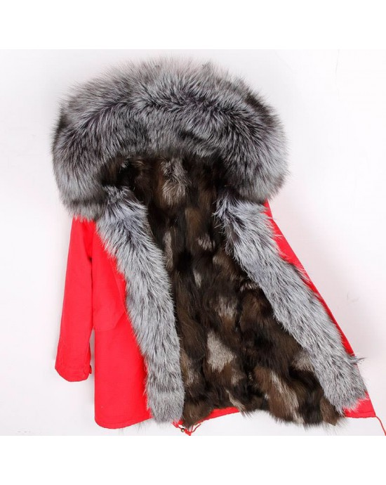 REAL FOX FUR EXLUSIVE PARKA - MODEL NR 15
