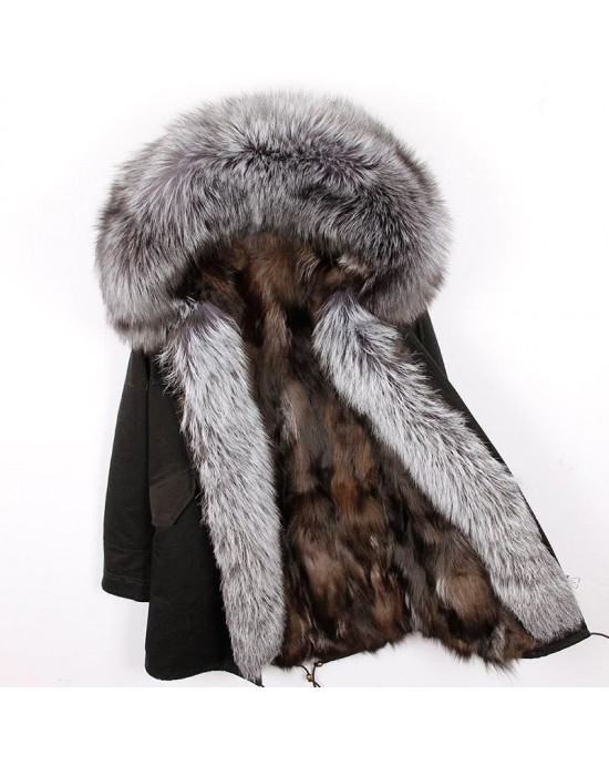 REAL FOX FUR EXLUSIVE PARKA - MODEL NR 17