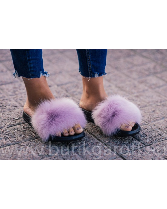 FLUFFY FUR SLIPPERS - LIGHT PINK