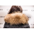 WINTER JACKET GAROFF - MODEL 1582 BLACK REAL FUR