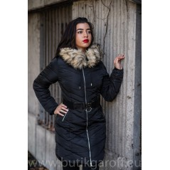 WINTER JACKET GAROFF - MODEL 1752 BLACK LONG