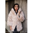 FLUFFY FAKE FUR HOODIE JACKET - WHITE