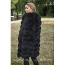 LONG Vest real fur - GRAPHITE