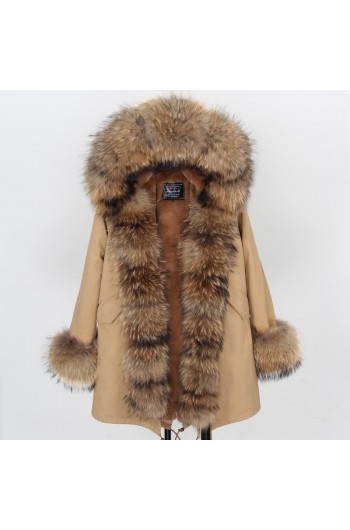 BLACK REAL FOX FUR EXLUSIVE PARKA