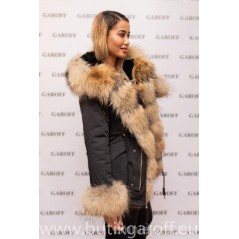 SHORT REAL FUR EXLUSIVE PARKA - MODEL NR 57