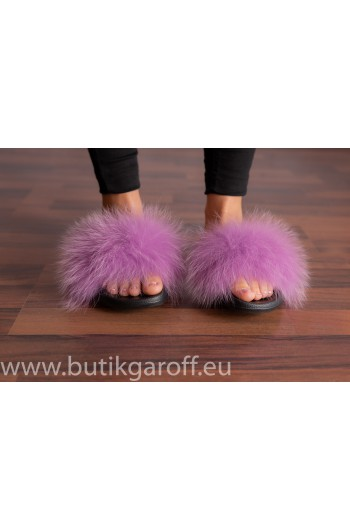 FLUFFY FUR SLIPPERS - LIGHT VIOLET