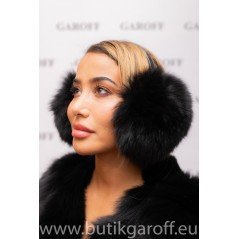 EARMUFFS - REAL FOX FUR  BLACK