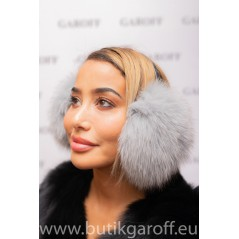 EARMUFFS - REAL FOX FUR  SILVER