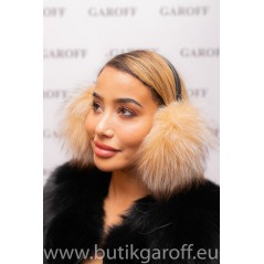 EARMUFFS - REAL FOX FUR  LIGHT  PINK