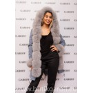LIGHT BLUE REAL FOX LIGHT GREY FUR EXLUSIVE PARKA