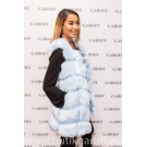 FAKE FUR VEST - LIGHT BLUE