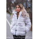 FLUFFY FAKE FUR JACKET - WHITE
