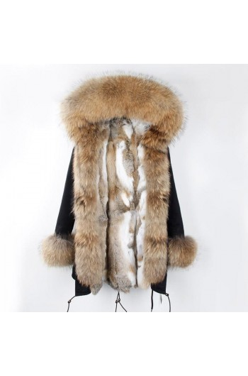 REAL RACOON FUR EXLUSIVE PARKA - MODEL NR 1