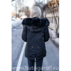 Short Black Exclusive Parla Real Fox Fur