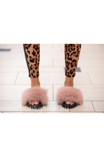 Fluffy päls tofflor - ljus rosa