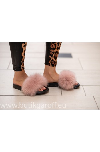Fluffy päls tofflor - LJUS ROSA 2