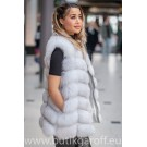Vest real fur - black