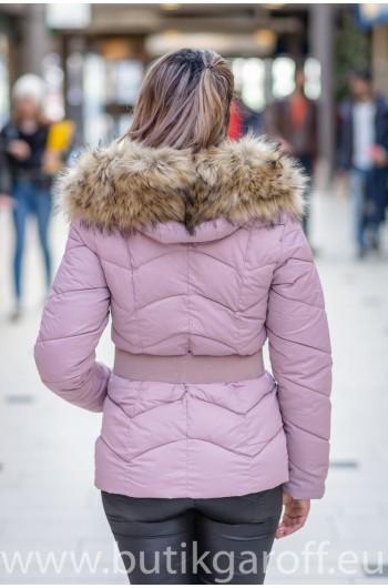 Vinter jacka GAROFF - MODEL 1801 pulverrosa