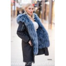 Premium Real Fox Fur Parka - SVART/BLA