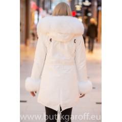 White Real Fox Fur Exlusive Parka