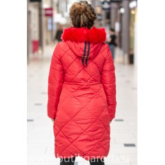 QUILTED WINTER JACKET - röd