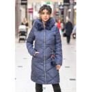 QUILTED WINTER JACKET - murkbla