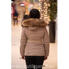 Vinter jacka GAROFF - MODEL 1582 svart , akta pals
