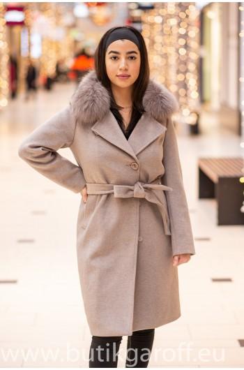 Wool Kappa - Beige med akta pals model nr 4