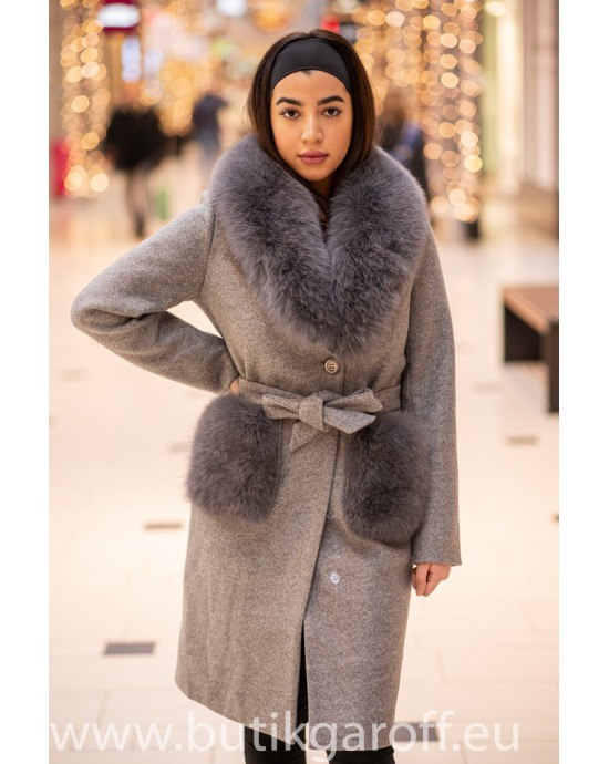 Wool Kappa - GRA med akta pals