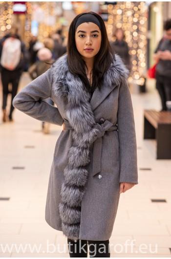 Wool Kappa - GRA med akta pals model nr 6