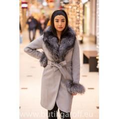 Wool Kappa - GRA med akta pals model nr 7