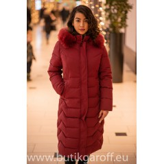 Long winter jacket red Model nr 2