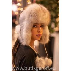 Vintermössa med rävpäls - model 12