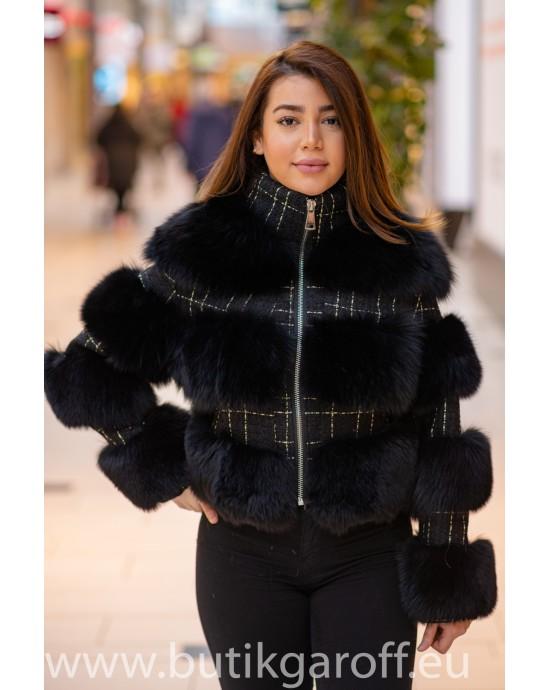 3 rings real fur jacket Model nr 2