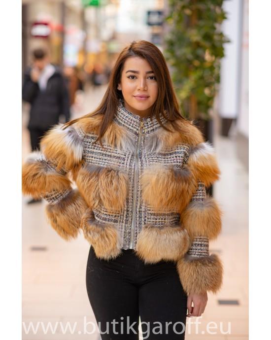 3 rings real fur jacket Model nr 3