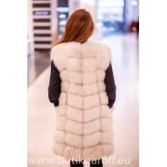 Snow white real fox fur vest 90cm