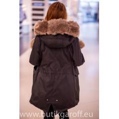 Black/Cappucino Winter Parka 2020/21