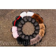 FLUFFY FUR SLIPPERS - BLACK