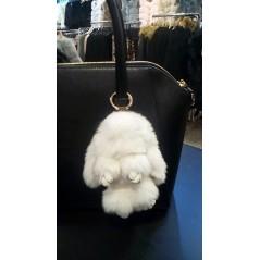 Rabbit pendant - white