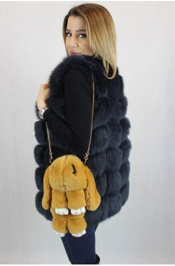 HANDBAG RABBIT / BACKPACK  2 in 1 - light brown