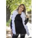 Vest real fur - natural white