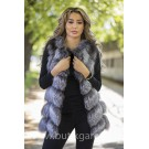 Vest real fur - silver fox
