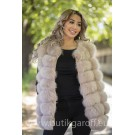Vest real fur - light pink