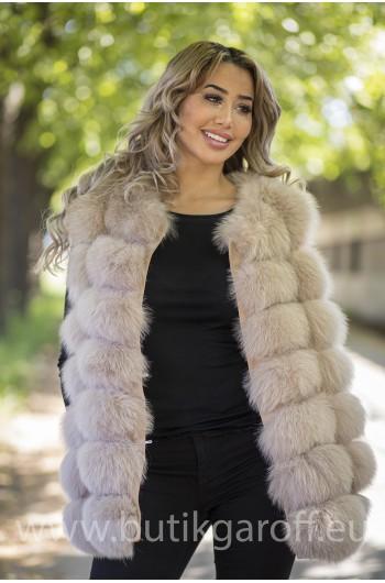 Vest real fur - light pink