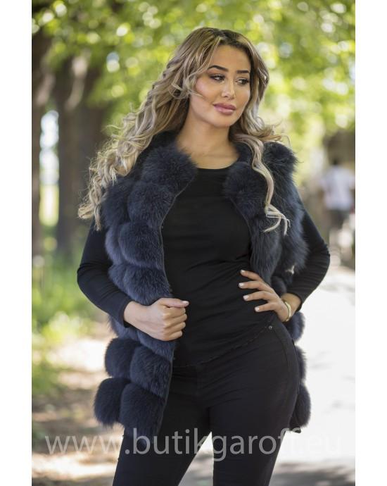 Vest real fur - graphite
