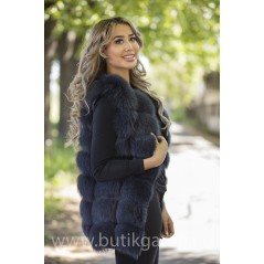 Vest real fur - graphite