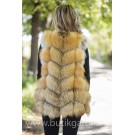 Vest real fur - gold fox