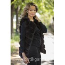 Vest real fur - arabic black