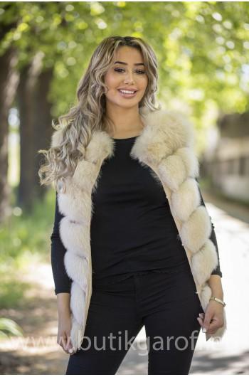 Vest real fur - vanilla