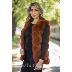 Vest real fur - california red